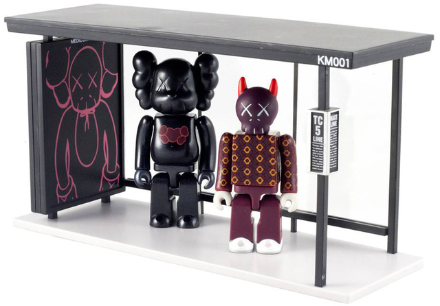 KAWS, 'Kubrick 100% and Bus Stop', 2002, EHC Fine Art Gallery Auction