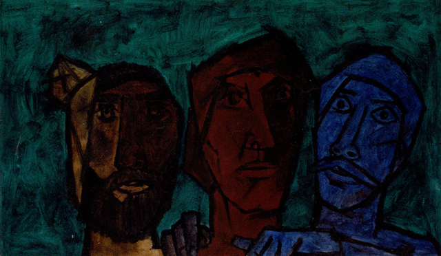 , 'Untitled (Heads - Green),' 1957, Aicon Gallery