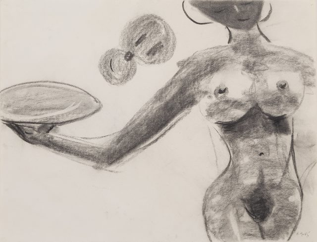 , 'Untitled: Nude with Plate,' 1985, Reynolds Gallery