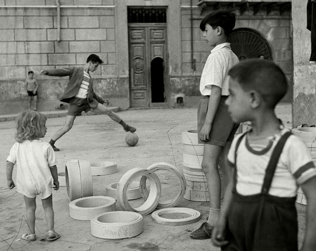 , 'Soccer in the street. Sicily, Italy. ,' 1950, Magnum Photos