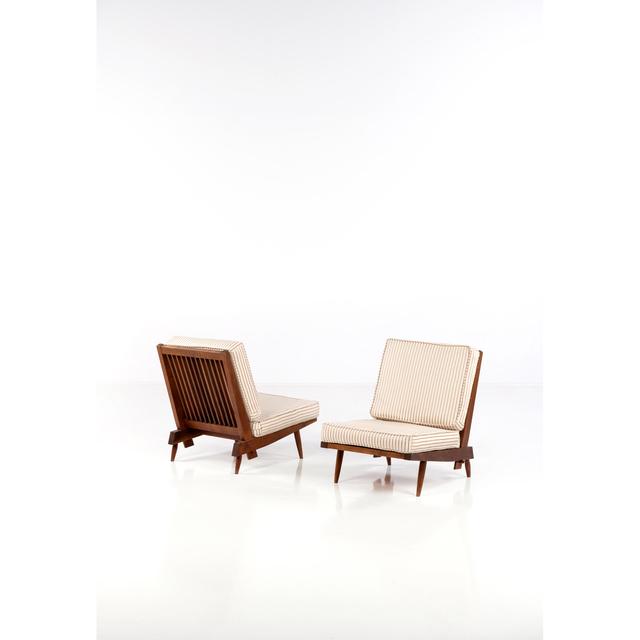 George Nakashima, 'Pair Of Fireside Chairs', 1962, PIASA
