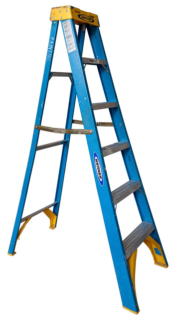 Jennifer Williams, 'Medium Open Folding Ladder: Blue with Yellow Top', 2012, Robert Mann Gallery