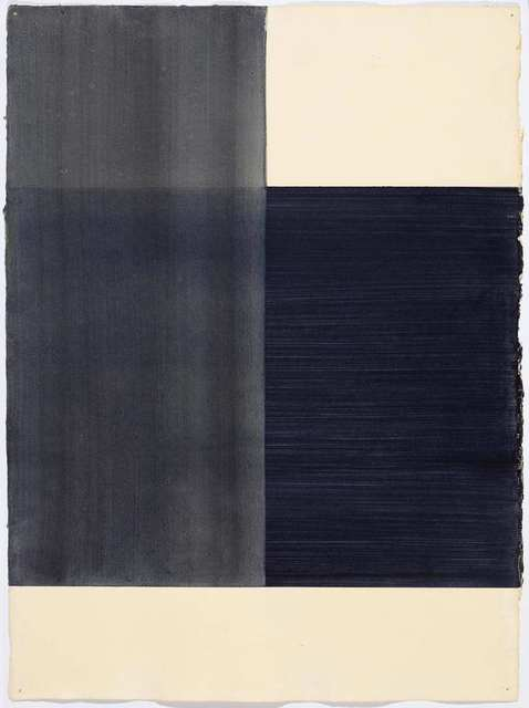 Callum Innes, 'Exposed (black)', 1997, Drawing, Collage or other Work on Paper, Watercolour on firm paper, Koller Auctions