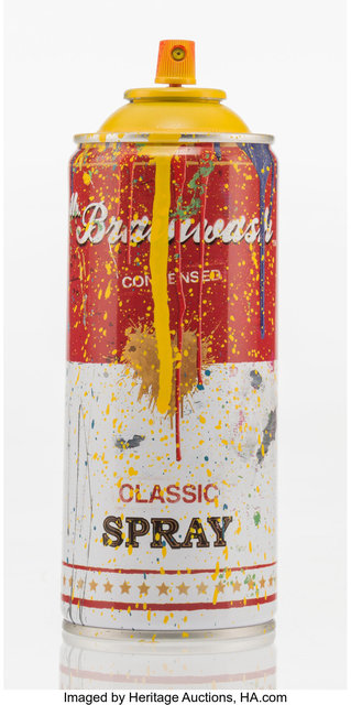 Mr. Brainwash, 'Spray Can (Yellow)', 2013, Heritage Auctions
