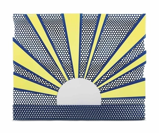 Roy Lichtenstein, 'Sunrise', Porcelain enamel on steel and perforated steel, Christie's