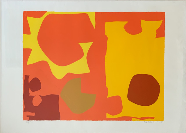 , 'Six in Light Orange with Red in Yellow,' 1970, Dellasposa