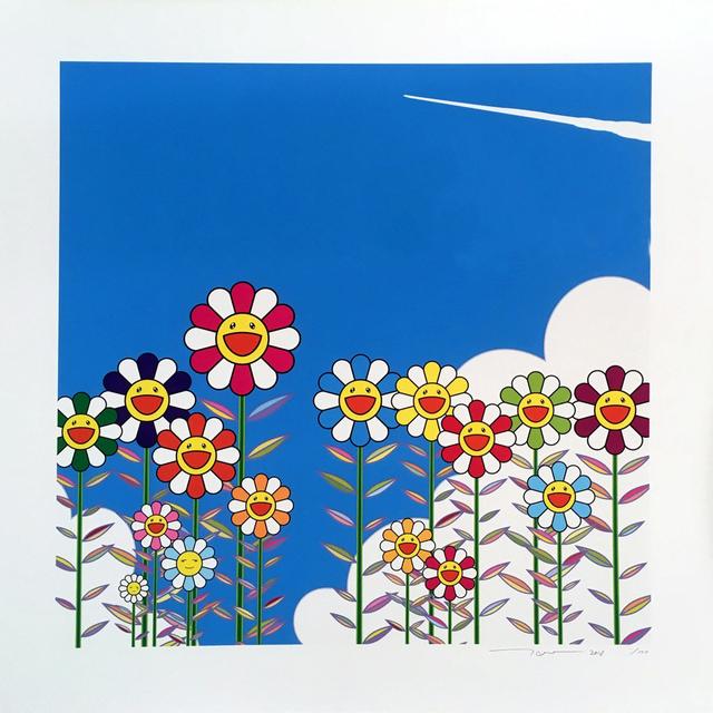 Takashi Murakami, 'Vapor Trail in the Blue Summer Sky', 2018, Lougher Contemporary