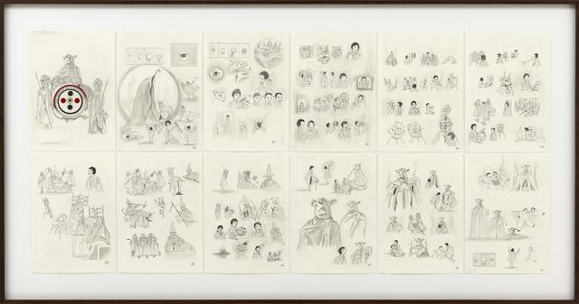 , 'Une Danse Dec Bouffons or (A Jester's Dance) Stord Board,' 2013, Sies + Höke