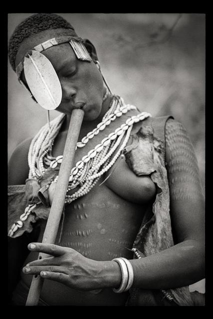 , '(Flute Player) Turmi, Ethiopia,' 1968, Galerie Julian Sander