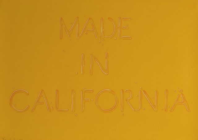 Ed Ruscha, 'Made in California (E. 52)', 1971, Print, Lithograph printed in colors, Sotheby's