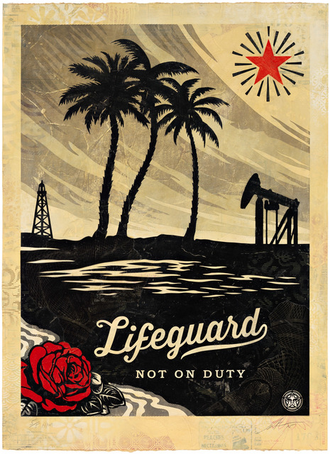 Shepard Fairey (OBEY), 'Lifeguard Not on Duty, HPM', 2015, Pace Prints