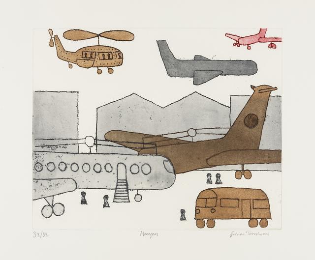 Julian Trevelyan, 'Hangars', 1973, RAW Editions