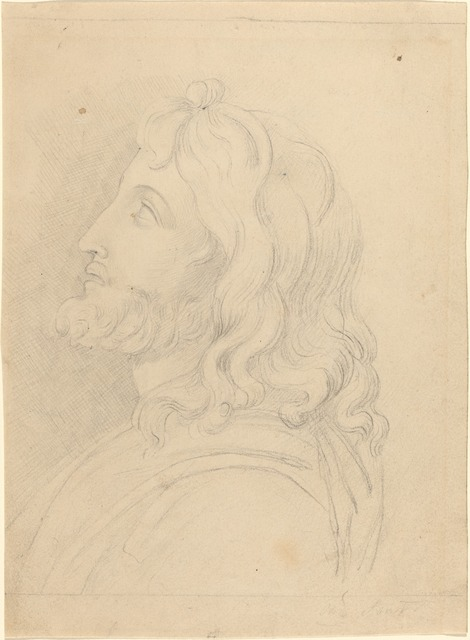 John Flaxman, 'Bust of a Bearded Man Looking Up', Drawing, Collage or other Work on Paper, Graphite, National Gallery of Art, Washington, D.C.