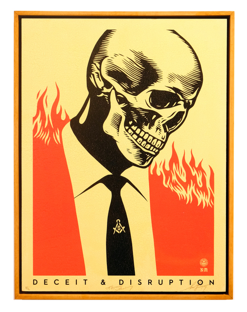 Shepard Fairey, 'Deceit and Disruption', 2013, Affenfaust Galerie