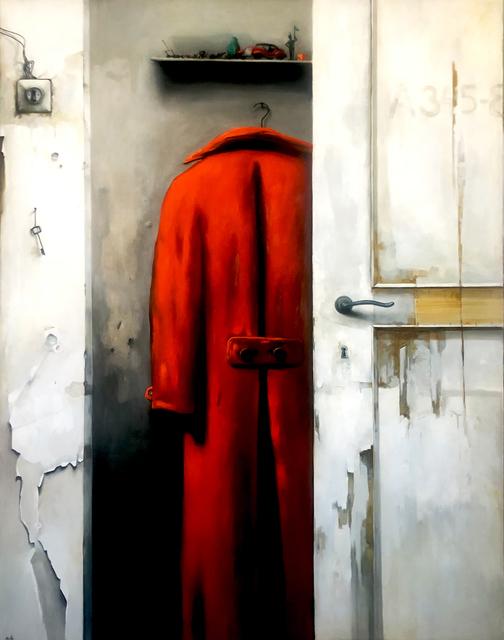 Dim Yuz, 'Red coat', 2020, Painting, Oil on canvas, Dan Gallery