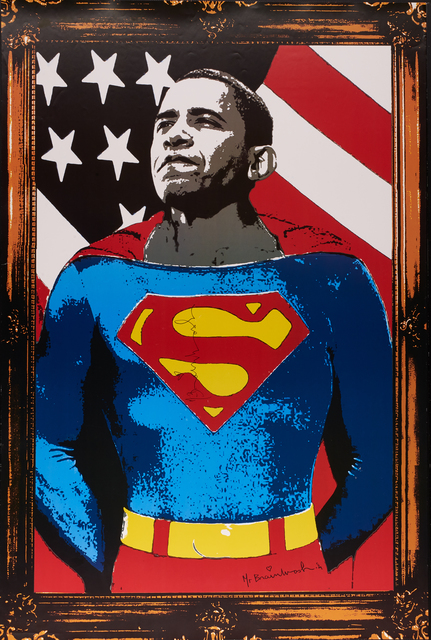 Mr. Brainwash, 'Obama Superman (Gold)', 2012, Rago/Wright