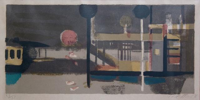 Bruno Saetti, 'Piccolo Paesaggio col Sole', 1954-1956, Print, Lithograph, Edition 23/28, Studio Mariani Gallery