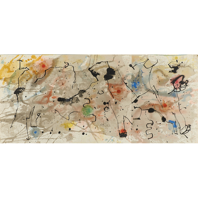 Joan Miró, 'Seven works: six lithographs in colors from Derrière le Miroir, together with exhibition poster Murales Peintures', ca. 1950's, Rago/Wright