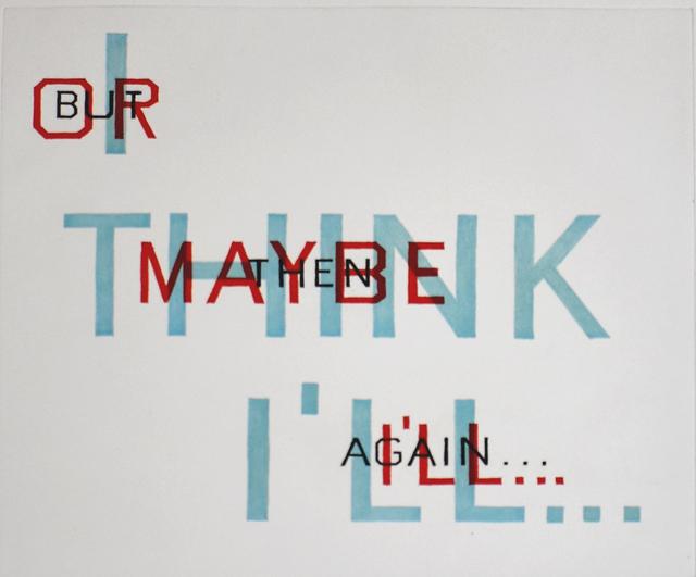 Ed Ruscha, 'Indecision', 1982, Gilden's Art Gallery