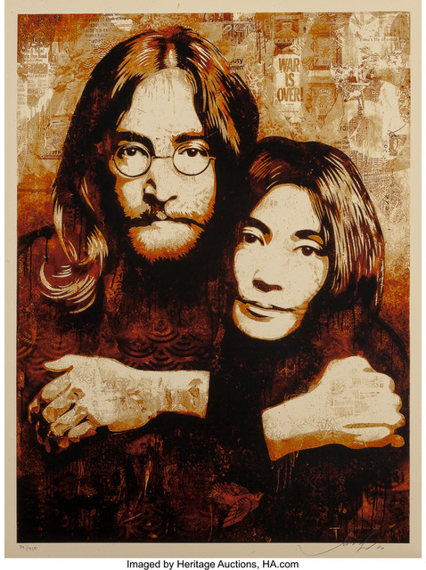 Shepard Fairey (OBEY), 'John & Yoko Canvas Print', 2010, Heritage Auctions