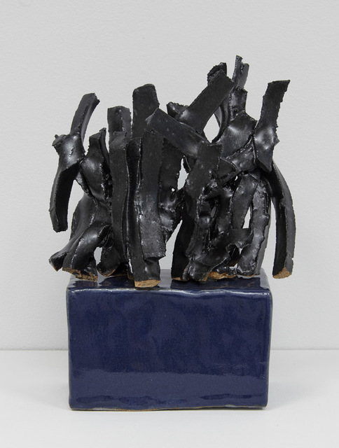 , 'Study for a Black Sculpture on a Blue Base,' 2017, Jane Hartsook Gallery