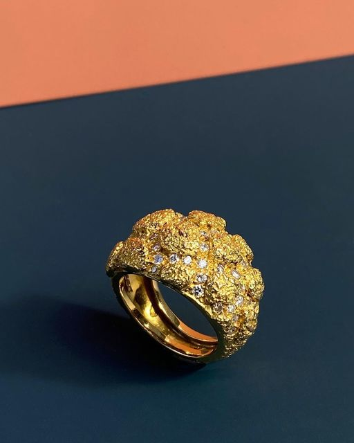 , 'Yellow Gold and Diamond 'Crocodile' Ring,' 1966, Grima