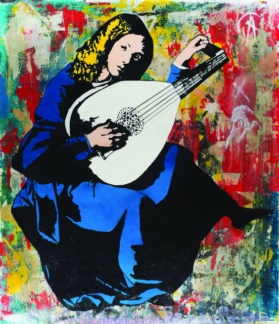 Blek le Rat, 'Lute Player (Facing Right)', 2018, LCD Gallery