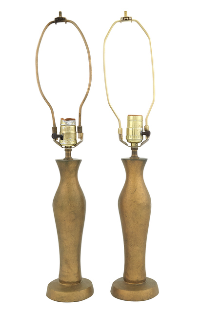 'Pair of Gilt-Bronze Lamps, In the manner of Alberto Giacometti', Doyle