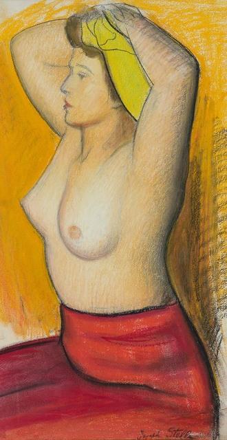 Joseph Stella, 'Seated Half Nude', Doyle