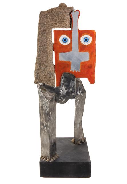David Hare, 'Cronus Walking', 1976, Sculpture, Stainless steel, acrylic, polyurethane, epoxy and sand, Hindman