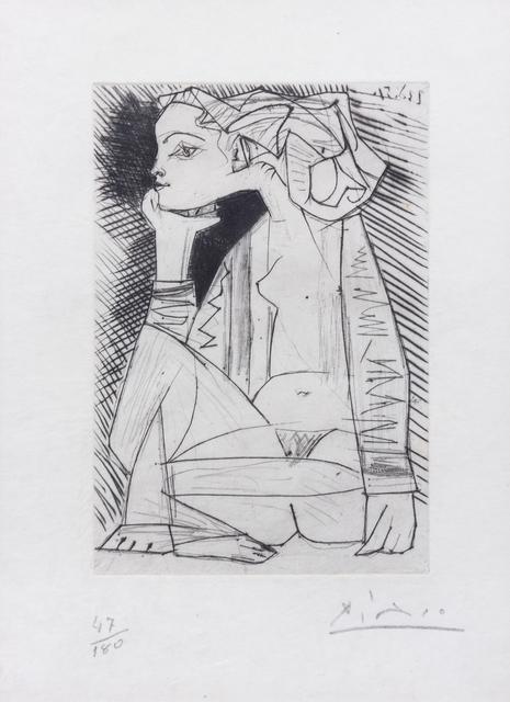 Pablo Picasso, 'Femme assise en tailler: Geneviève Laport (from Recordant el Doctor Reventós)', 1951, Hindman