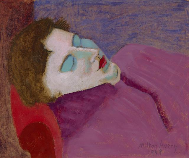 Milton Avery, 'Sleeping Sally', Dated 1949, Painting, Oil on board,  M.S. Rau