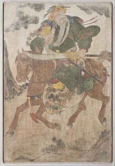 Unknown Artist, 'General Guan Yu on Horseback', Ming or Qing Dynasty-17th century, Davis Museum