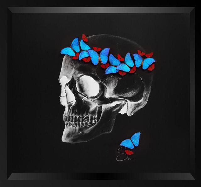 , 'Negative skull (Red-Blue),' 2017, Eden Fine Art
