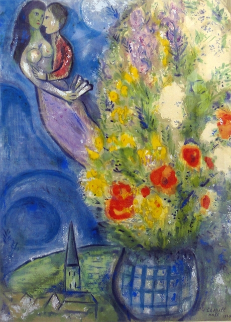 Marc Chagall, 'Red Poppies', 1949, Other, Lithograph, New River Fine Art