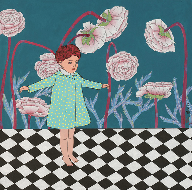 , 'The Little Girl under the Peonies,' 2015, Line Gallery