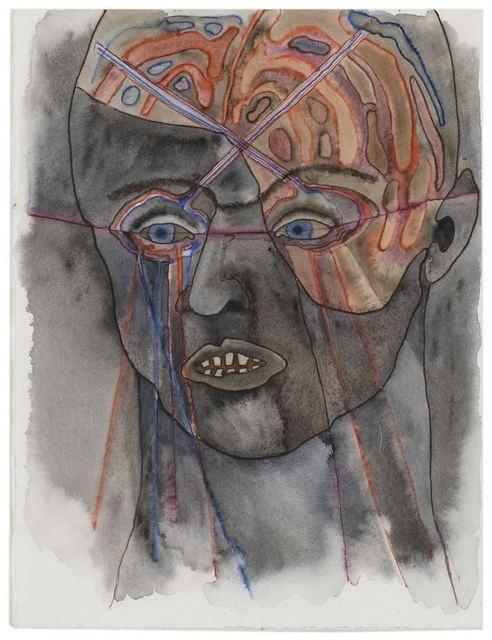Katy Schimert, 'Brain Exposed II', 2008, Mixed Media, Graphite, ink, watercolor on paper, Children's Museum of the Arts