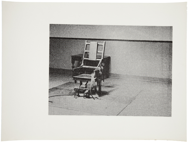 Andy Warhol, 'Electric Chair (F. & S. IIIA.4[a])', ca. 1978, Photography, Screenprint in black on paper, one of a small number of impressions, presumably unique in this composition, Christie's Warhol Sale