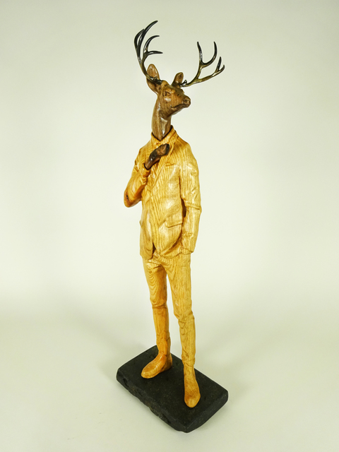 , 'Oak Blacktie Evening Deer,' 2016, West Branch Gallery