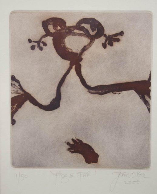 John Olsen, 'Frog and Fish', 2000, Angela Tandori Fine Art