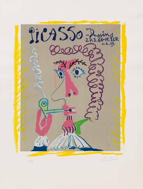 Pablo Picasso, 'Fumeur from Dessins 66-69', Hindman