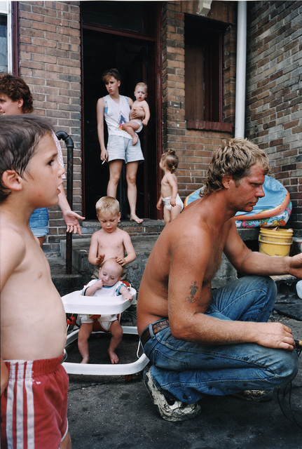 Doug DuBois, 'Larry Fixes His Motorcycle, Avella, Pennsylvania', 1994, Photography, Aperture Foundation