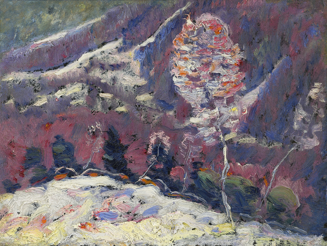 Marsden Hartley, 'Untitled (Landscape, Song of Winter Series)', 1908, Painting, Oil on board laid down on board, Alexandre Gallery