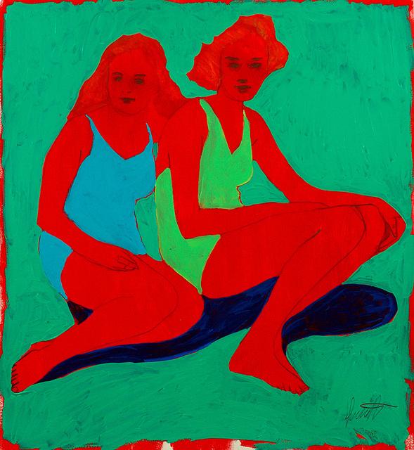Patrick Puckett, 'Bathers at Deep Eddy Study', 2017, Wally Workman Gallery
