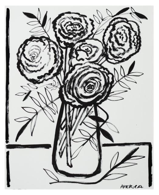 , 'Heirloom Tea Roses in a Vase,' 2019, Wally Workman Gallery