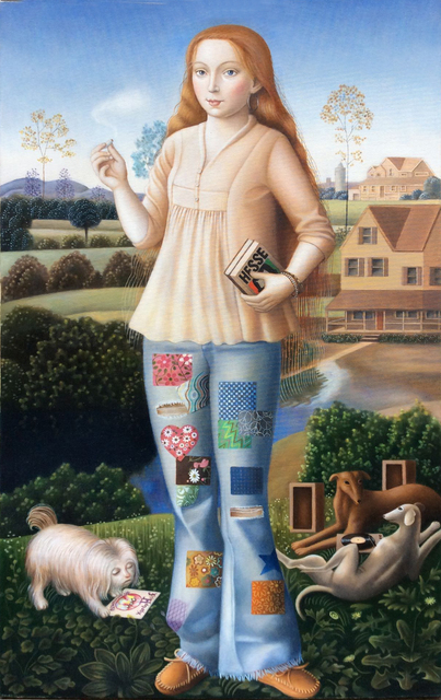 Amy Hill, 'Girl with Books', 2018, Front Room Gallery
