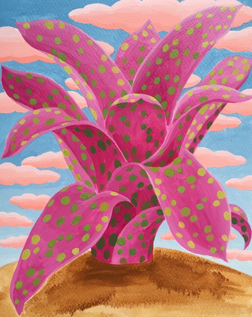 , 'Pink Bromeliad Study,' 2016, Project: ARTspace