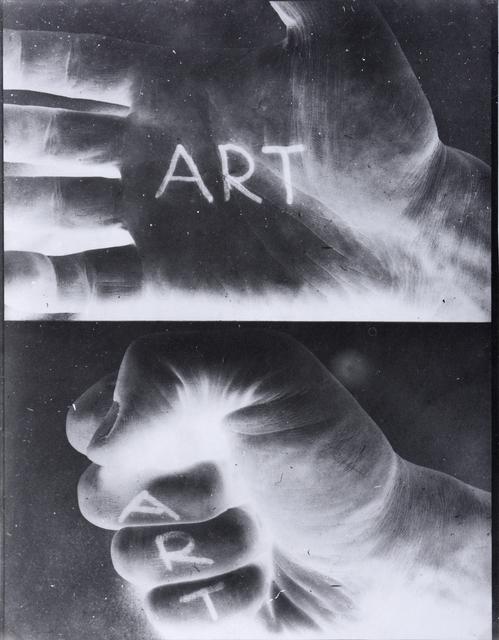 , 'Art Gestures,' 1971, SAGE Paris