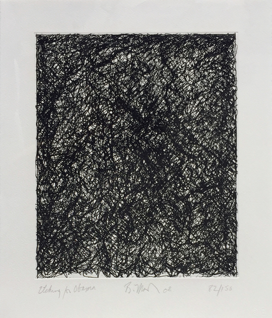 Brice Marden, 'Etching for Obama, from the Artist for Obama Portfolio', 2008, Hamilton-Selway: Blue-Chip Editions