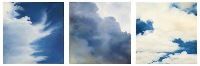 Purdy Eaton, 'Cloud triptych', 2013, Nancy Hoffman Gallery